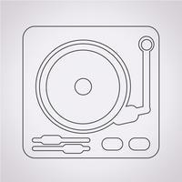 Plattenspieler Symbol Symbol Zeichen vektor