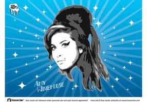 Amy Winehouse Vektorgrafiken