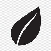 Leaf Icon Symbol Zeichen vektor