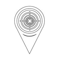 Kartenzeiger-Zielsymbol vektor