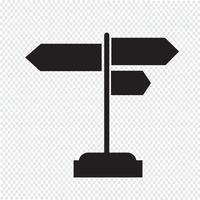 Wegweiser Symbol Symbol Zeichen vektor
