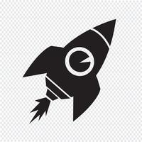 Rakete Symbol Symbol Zeichen vektor