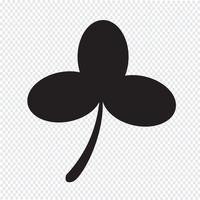 Leaf Clover Symbol Zeichen vektor