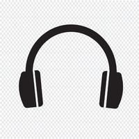 hörlurar ikon symbol tecken