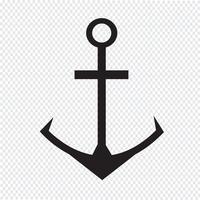 Ankare ikon symbol tecken vektor