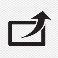 Dela ikon symboltecken