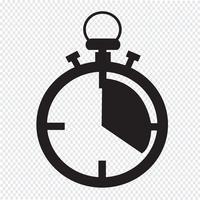 stoppur ikon symbol tecken vektor