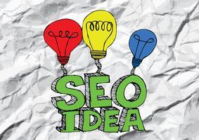 Seo Idea SEO-sökmotoroptimering på skrynkligt papper