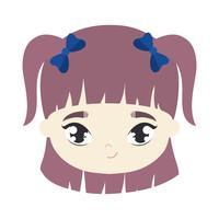 Leiter der niedlichen kleinen Mädchen Avatar Charakter