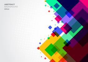 Abstrakt färgrik geometrisk fyrkantig mall för bakgrund