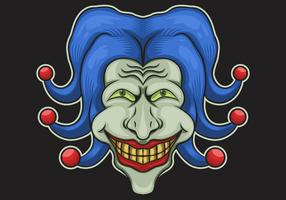 Joker Kopf Vektor-Illustration vektor