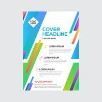 Färgglad design för modern affärsreklamblad