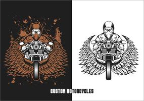 Biker benutzerdefinierte Motorräder Vektor-Illustration vektor
