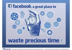 Facebook Zeit vektor