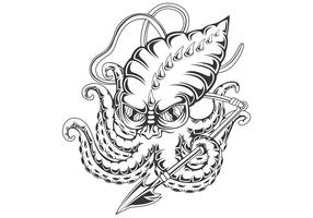 bläckfisk vektorillustration vektor