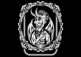 Böse Vektor-Illustration vektor