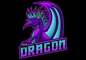 Drachenspiel-Logo-Vektor-Illustration