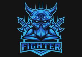 monster fighter club e sports logo vector illustration
