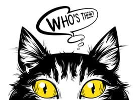 Die Katze, die aufpasst. vektor