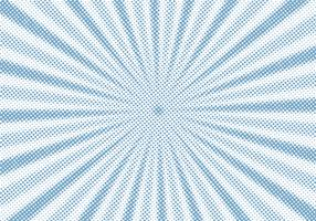 Retro- blauer Sonnendurchbruch und komischer Karikaturhalbtonarthintergrund der Strahlen. Abstrakter Weinleseschmutz mit Sonnenlicht. vektor