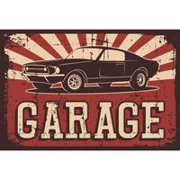 Vektorillustration med bilden av en gammal klassisk bil, designlogotyper, affischer, banners, skyltar. vektor