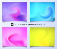 Satz flüssiger heller Farbhintergrund. Moderne abstrakte Abdeckungsplan-Designschablone. Lebhafte Farbverläufe, die Sie für Jahresberichte, Poster und Banner verwenden können.
