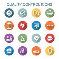 kvalitetskontroll långa skugga ikoner