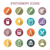 brevpapper långa skugga ikoner vektor