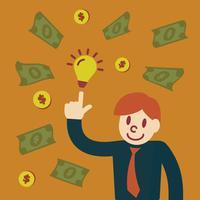Geld verdienen Vektor Cartoon