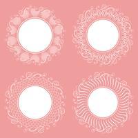 Ansammlung getrennte weiße Servietten. Stylistisches Aussehen. vektor