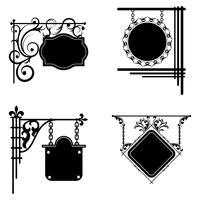 Uppsättning skyltar. Kan användas som ramverk, tecken för design och design.