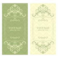 Inbjudan. Vacker vintage designram för din text.