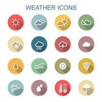 väder långa skugga ikoner
