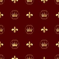 Nahtloses Muster. Kronen und Symbole der Lizenzgebühren. Hintergrund für Ihre Ideen. Vektor