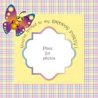 Babyinbjudan till en födelsedag vektor