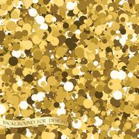 Goldglitter Textur. Hintergrund für Ihr Design. Vektor
