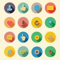 Web flache Symbole