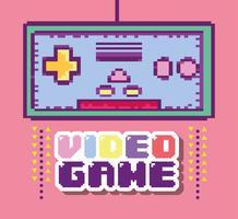 pixelerad retro gamepad vektor