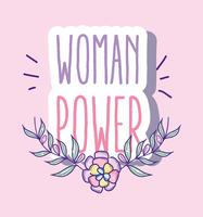 Frauenpower-Cartoon vektor