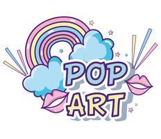 Pop art-serier vektor