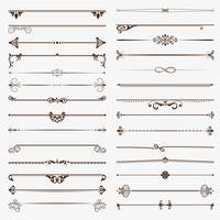 Großer Satz Trennwände. Kalligraphische Gestaltungselemente des Vektors und Seitendekoration vektor