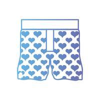 Linie schöne Boxer Textil Mode-Design vektor