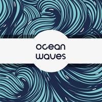natürliches Ozeanwellen-Hintergrunddesign