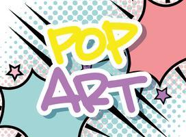 Pop art bubbla vektor