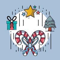 ställa in glad design för jul