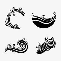 Set Ozeanwellen mit unterschiedlichen Formen Design