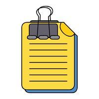 Geschäftsdokumentinformationen mit Clip-Design vektor