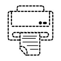 prickad form skrivarteknologi med affärsdokument
