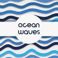 naturliga vågor bakgrundsdesign