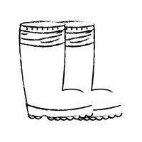 Figur Gummistiefel Objekt gegen Schutzfüße vektor